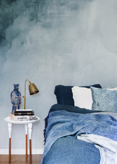Mural - Watercolour Blue (Per Sqm)