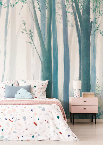 Mural - Trees Blue (Per Sqm)