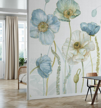 MURAL - MY GREENHOUSE FLOWERS LINEN (PER SQM)