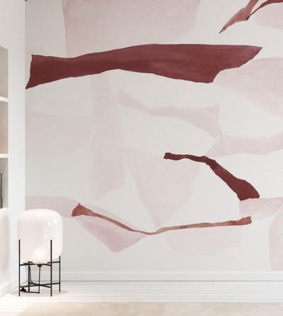Mural - Fractal Burgundy & Pink (Per Sqm)