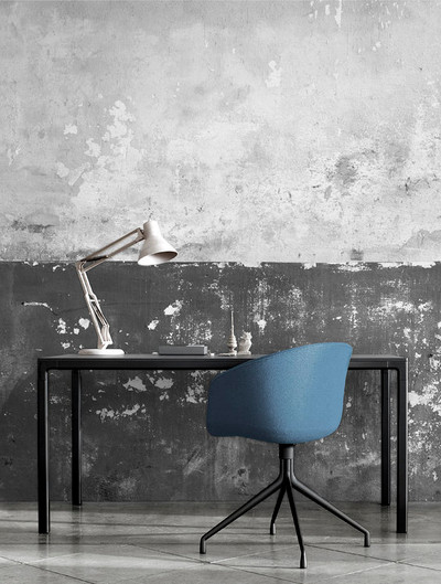 Mural - Flaking Plaster Wall Grey (Per Sqm)