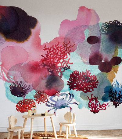 Mural - Water Colour Coral Ii (Per Sqm)