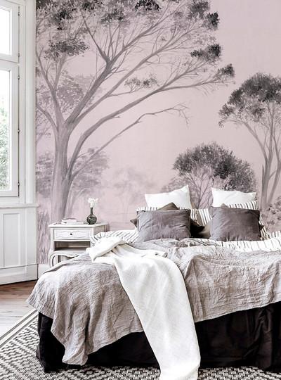Mural - Tree Dusty Pink (Per Sqm)