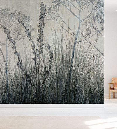 MURAL - WILDFLOWERS BLUEGREY (PER SQM)