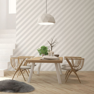 DIAGONAL STRIPE - GREY