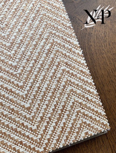 Chevron Paper Weave - Tobacco / Light