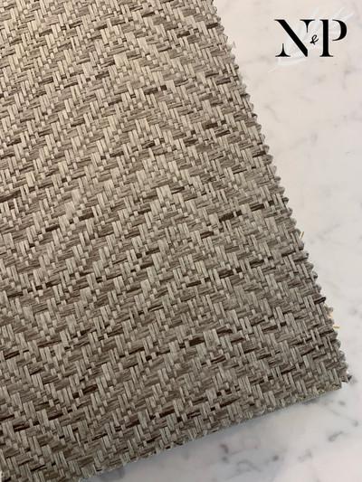 CHEVRON PAPER WEAVE - SLATE GREY