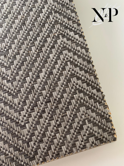 CHEVRON PAPER WEAVE - CHARCOAL
