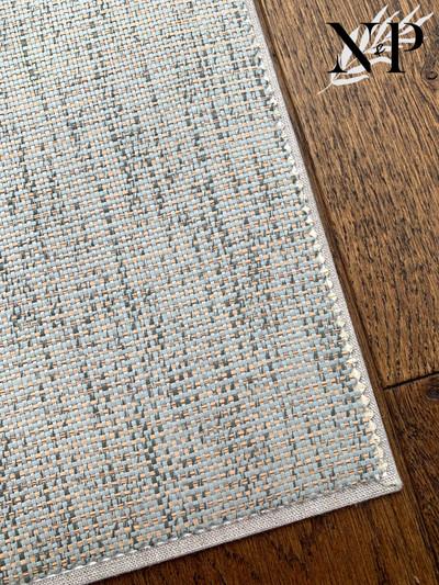 Paper Weave 2b293 - Aqua / Teal / Natural