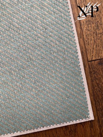 Diagonal Stripe Weave - Teal / Grey