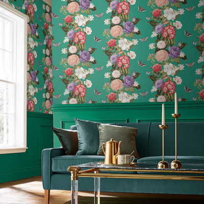 Bloomsbury Wallpaper - Emerald