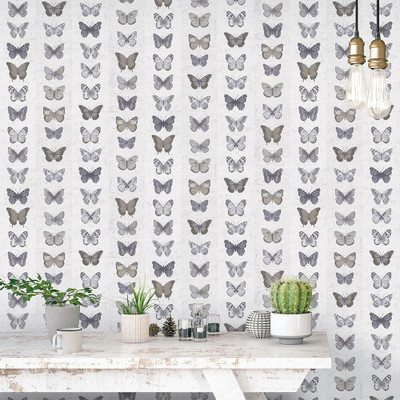 Butterfly Wall - Grey / Brown