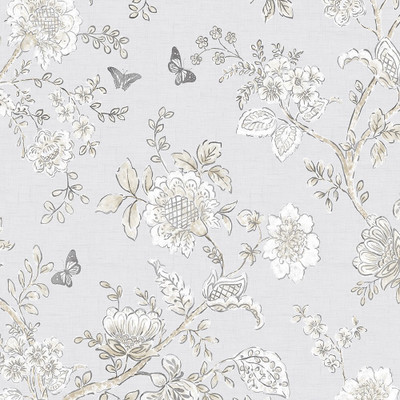 BOUGHS AND BUTTERFLIES - GREY / BEIGE