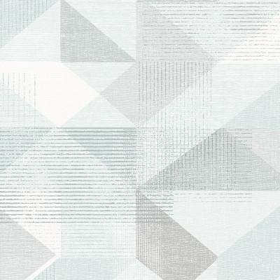 Silk Screen Geometric - Minty Blue