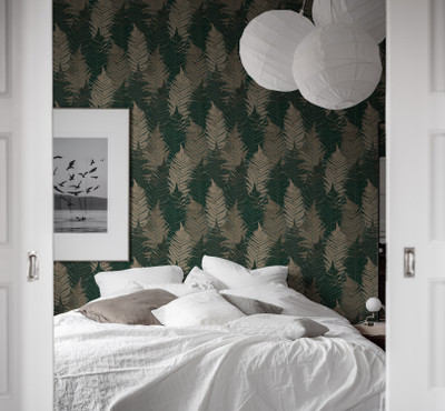 FERN FOREST - DARK GREEN / BEIGE