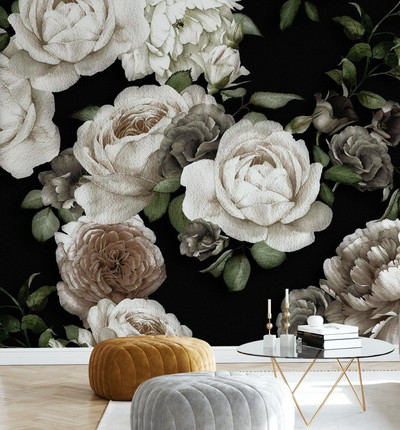 MURAL - WHITE ROSE (PER SQM)