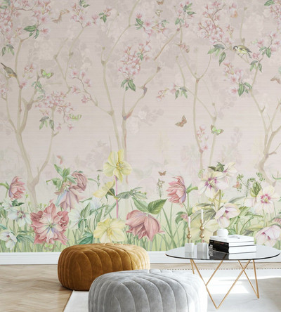 Mural - Pink Meadow (Per Sqm)