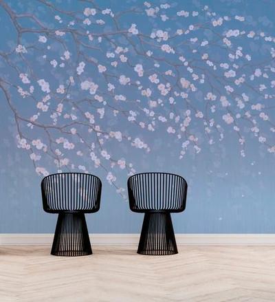 Mural - Sakura Cobalt (Per Sqm)