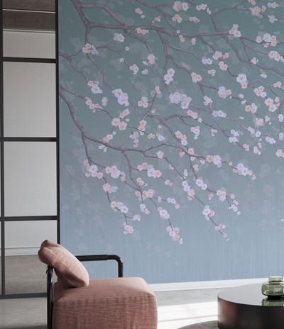 Mural - Sakura Mist (Per Sqm)