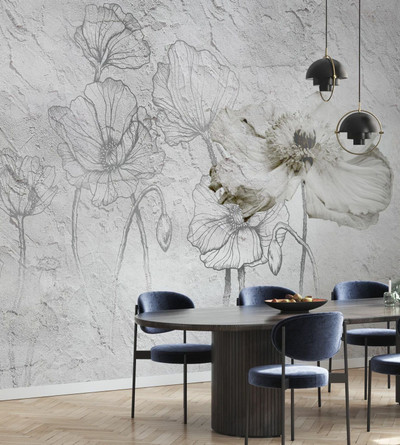 MURAL - FLOWERS ON CRACKING WALL (PER SQM)