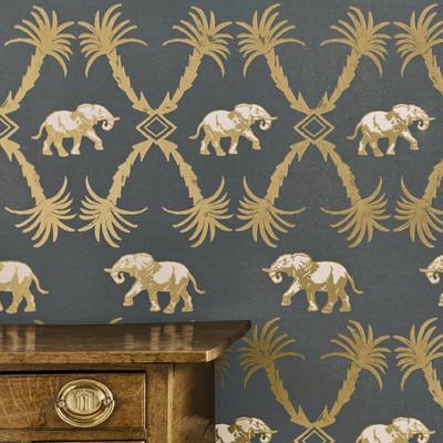 Elephant Palm - Gunmetal / Gold