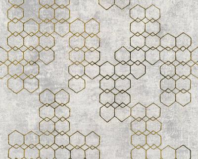 Textured Chain - Gold / Grey