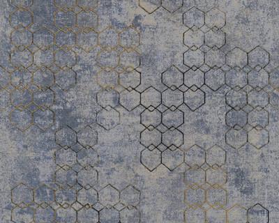 Textured Chain - Blue / Gold