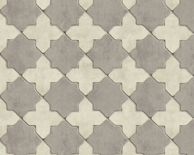 Deco Tile - Cream / Grey