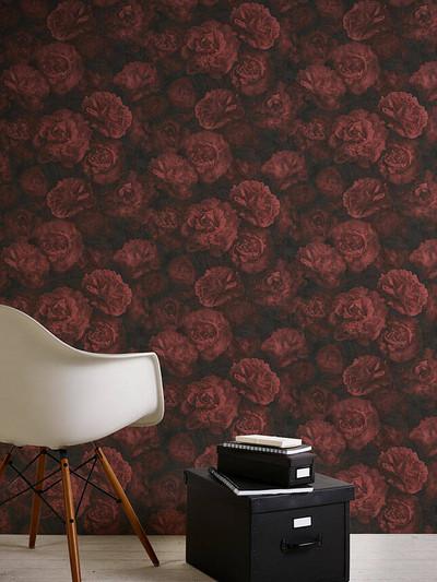FLOWER BLOOM - RED / BLACK
