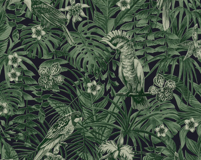 Jungle Birds - Green / Black