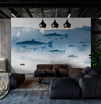 Mural - Into The Blue 1 (4m X 2.7m)
