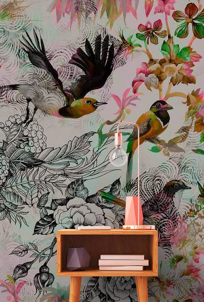 MURAL - FUNKY BIRDS 1 (4m x 2.7m)