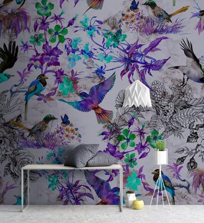 MURAL - FUNKY BIRDS 2 (4m x 2.7m)