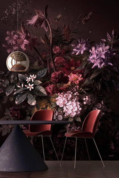 Mural - Bouquet Noir 1 (4m X 2.7m)