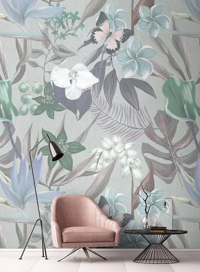 Mural - Orchid Garden 2 (4m X 2.7m)