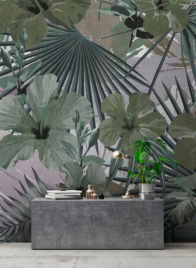 Mural - Hibiscus 1 (4m X 2.7m)
