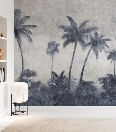 MURAL - CALIFORNIA PALMS ON CONCRETE (PER SQM)