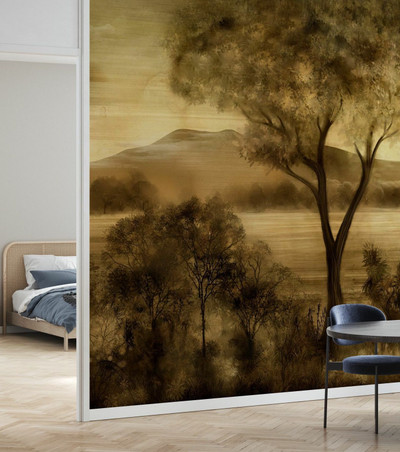 Mural - Lay Of The Land Amber (Per Sqm)