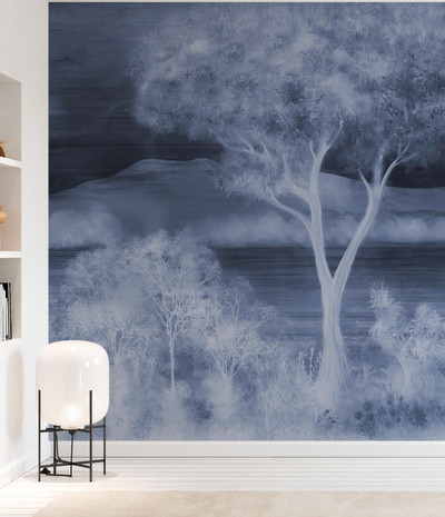 MURAL - LAY OF THE LAND COBALT BLUE (PER SQM)