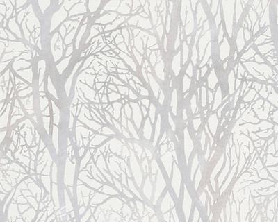 METALLIC TREES - WHITE