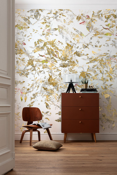 MURAL - GOLDEN FEATHERS (3.0m x 2.8m)
