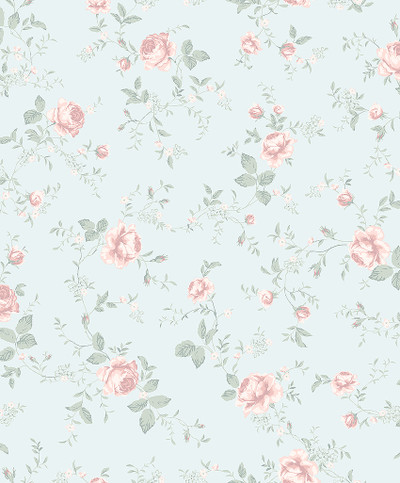 Rose Garden - Blue / Pink