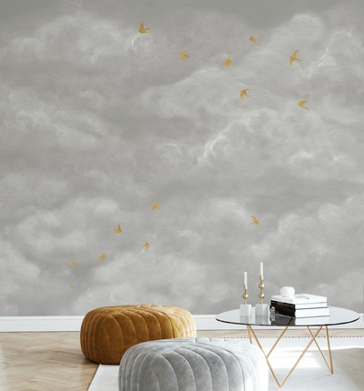 MURAL - TENDER CLOUDS GREIGE (PER SQM)
