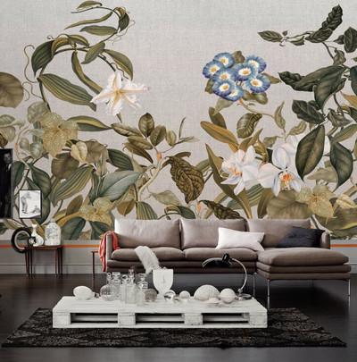 Mural - Botanic Sketch Neutral (4m X 2.7m)
