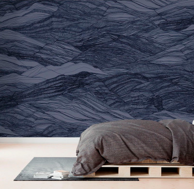 Mural - Duna Large Deep Blue (Per Sqm)