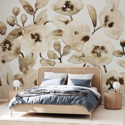 Mural - Blooming Umber (Per Sqm)