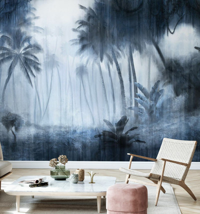 Mural - Definitive Tropical Indigo (Per Sqm)