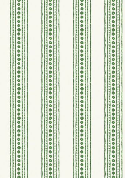 NEW HAVEN STRIPE - GREEN / CREAM