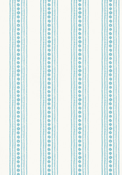 NEW HAVEN STRIPE - TURQUOISE / CREAM