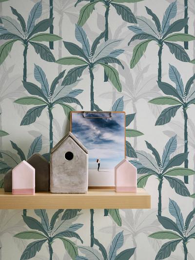 NORDIC PALMS - GREEN / BLUE
